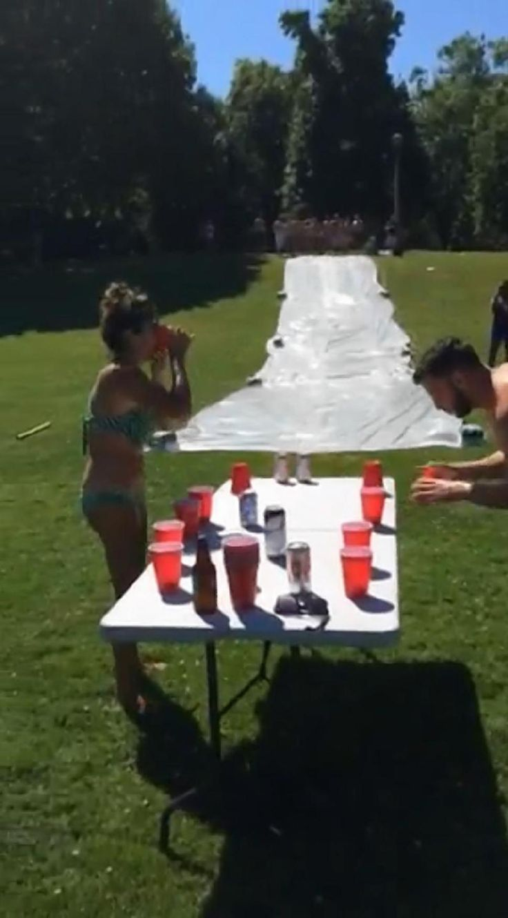 ... And then you flip, a twist on the flip cup drinking game in which you drink out of a cup and then flip it.