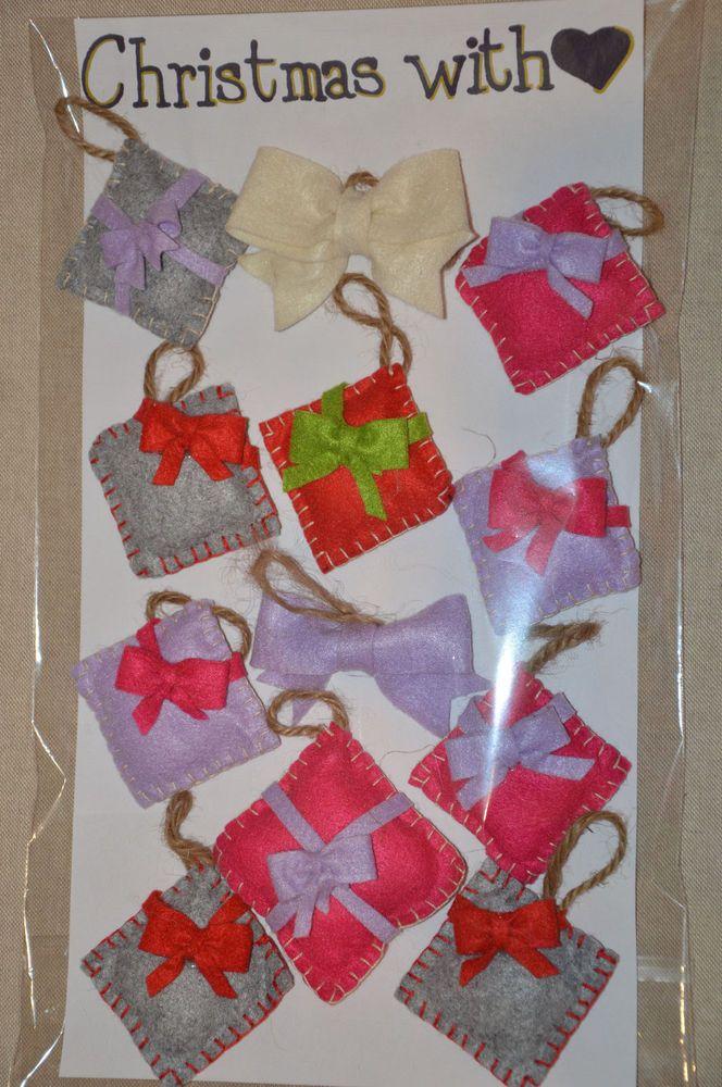 Addobbi natalizi in pannolenci realizzati a mano
