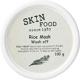 SKINFOOD's Rice Mask Wash Off features rice extracts to brighten and soften complexion.