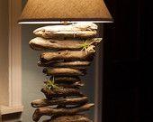 Articoli simili a Lampada legno organicamente ispirata Drift su Etsy