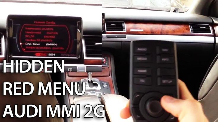 How to access hidden red menu in Audi MMI 2G (A4, A5, A6, A8, Q7) service