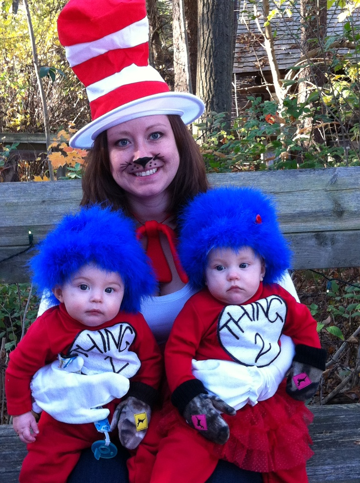 homemade thing 1 thing 2 costumes - Thing 1 Thing 2 Halloween Costume