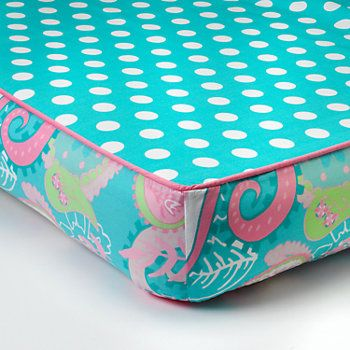 My Baby Sam Pixie Baby Aqua Paisley Crib Sheet