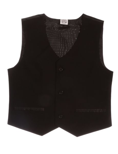 Your boy will look sleek and sharp in this lined waistcoat. With three front buttons and mock twin front pockets, this waistcoat can be paired with a crew-neck t-shirt, perfect for special occasions.