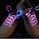 LED Shoelaces Breathe new life into any pair of sneakers by lacing them up with the LED shoelaces. Each lace is powered by a small battery that makes them glow in a solid, flashing, or strobe mode that lasts for up to seventy hours of usage.