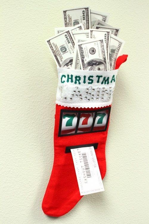 Las Vegas Christmas stocking.