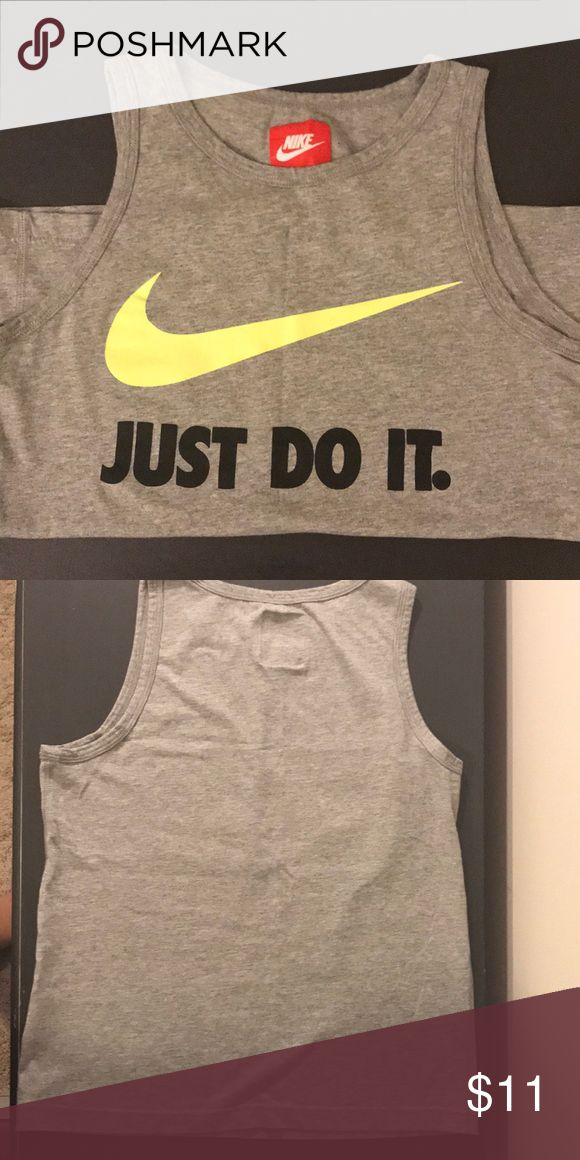 Nike tank Youth M, like new, Nike Just Do It tank Age range would be 7 or 8 year old Nike Shirts & Tops Tank Tops