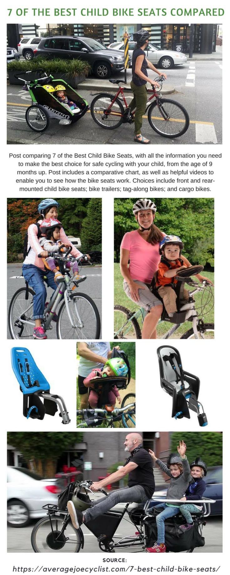 7 of the best child bike seats compared