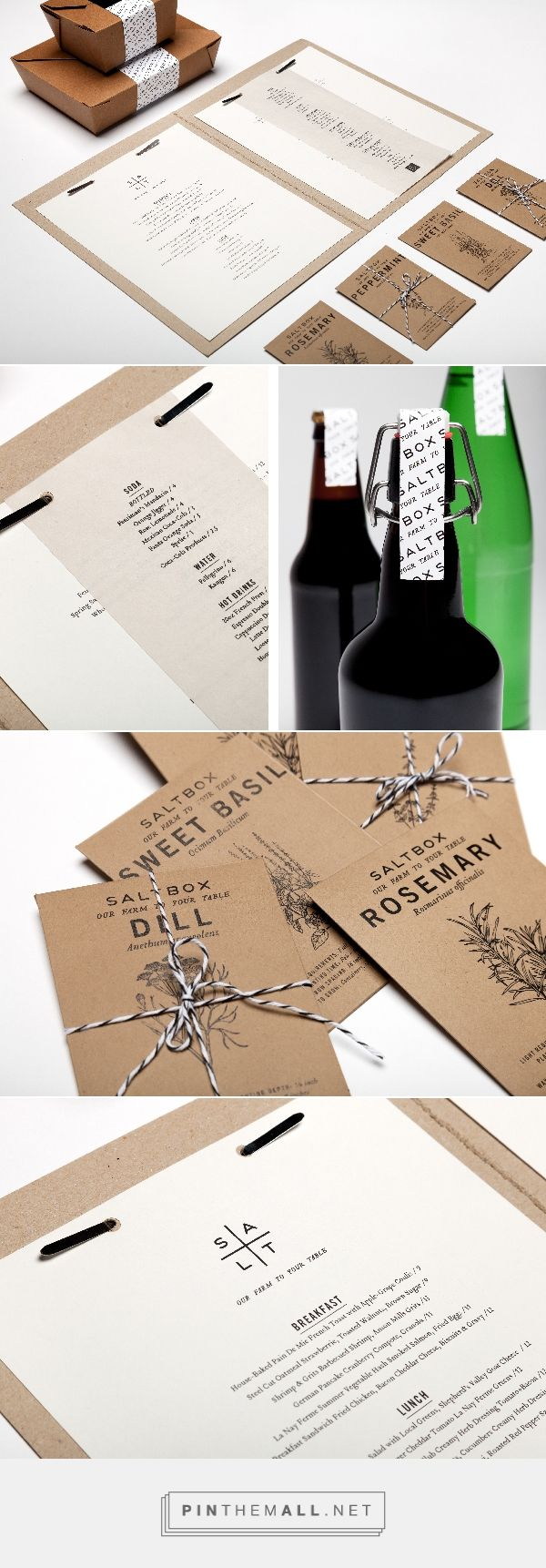 salt box packaging branding on behance by elyse taylor salt lake city ut curated by packaging diva pd salt box is a restaurant that only uses local