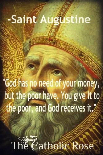 St. Augustine...  Thank you, God, for dear St. Augustine!  How wonderful and true!!!