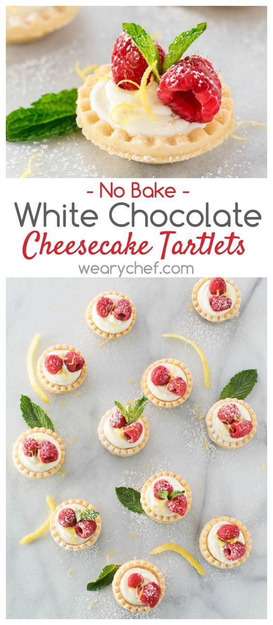 These mini No Bake White Chocolate Cheesecake Tartlets with lemon are a perfectly easy summer dessert!