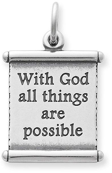 James Avery All Things Are Possible Scroll Charm