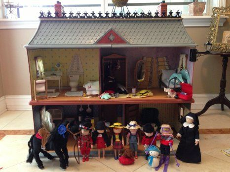 Attractive Madeline Doll House Furniture   Madeline Doll House Retired House In  Includes House Dolls Accessories