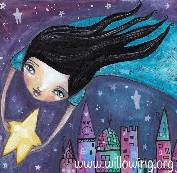 Star Flight Art Print by willowing on Etsy