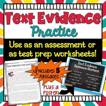 Text Evidence Passages- the ability to read passages and find and cite text evidence to justify an answer is a VITAL skill for students, as it is emphasized time and time again in the Common Core State Standards. If you are looking for passages to practice this challenging, yet important skill, take a look at this packet of worksheets!