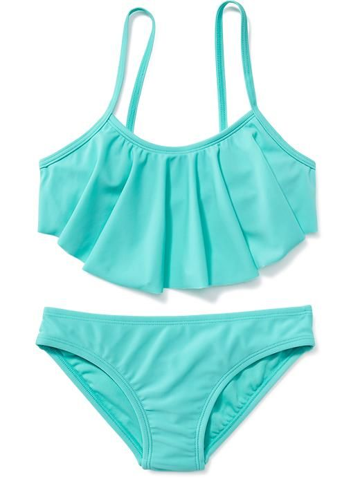 Ruffle-Top Bikini for Girls