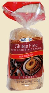 Glutino Multigrain Bagels - excellent when toasted! Just be careful because they are not low calorie :)