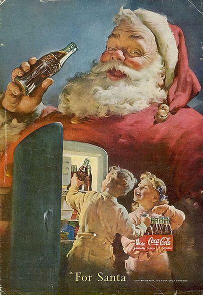 Coca-Cola Xmas ad, 1950