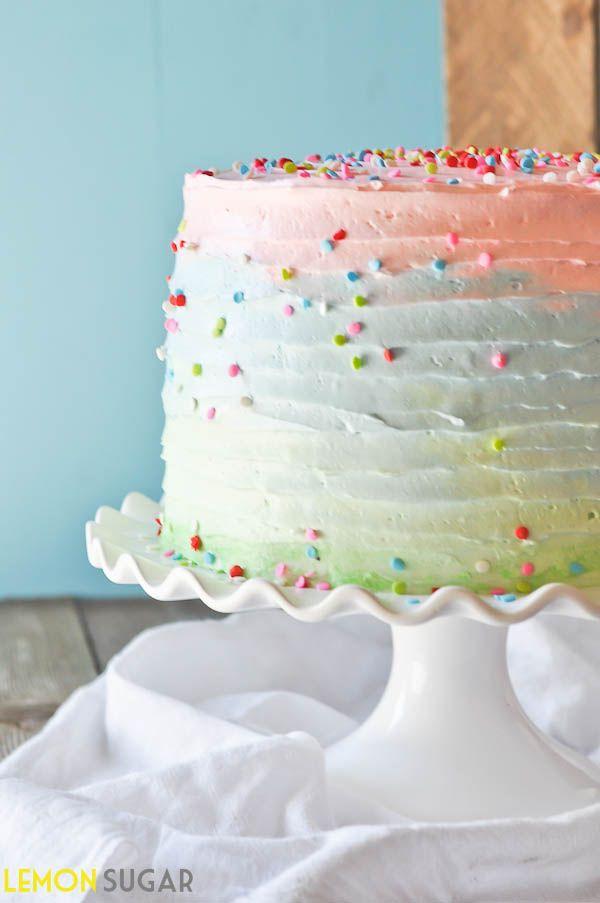 .Pastel Ombre, Celebration Cakes, Www Lemon Sugar Com, Layered Celebrities, Layered Birthday, Ombre Cake, Celebrities Cake, Layered Cake, Birthday Cake