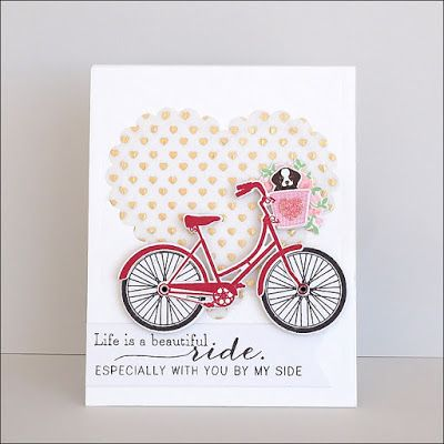 Card Bike Bicycle Heart Life Is A Beautiful Ride Especially With You By My Side