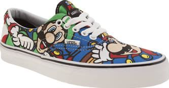 Vans Multi Era Nintendo Mario Womens Trainers Pop on these trainers from the Vans X Nintendo collection and lets-a go! The classic Era profile arrives in durable fabric, adorned in a multi-coloured print of Mario, Luigi, Toad and Yoshi. GAME OVER http://www.comparestoreprices.co.uk/january-2017-8/vans-multi-era-nintendo-mario-womens-trainers.asp