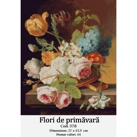 Model goblen Flori de primavara http://set-goblen.ro/flori/3556-flori-de-primavara.html