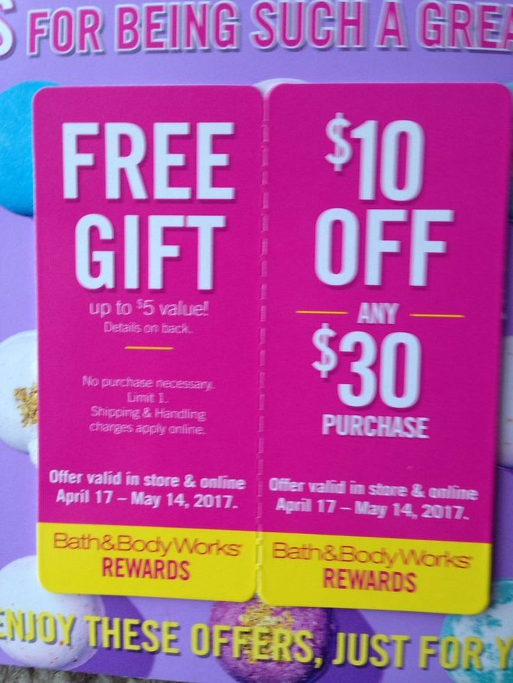 2 Bath &body Works Coupons , Exp 5/14