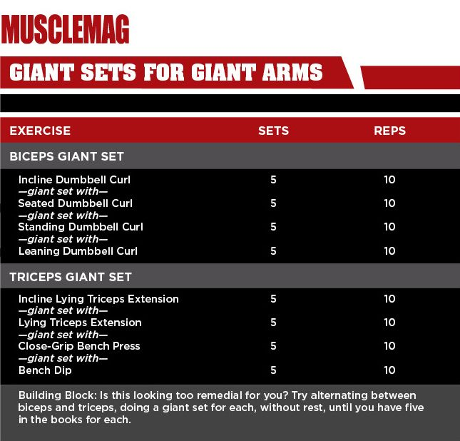 Giant Sets for Giant Arms | Workouts | Arms, Exercise, Workout