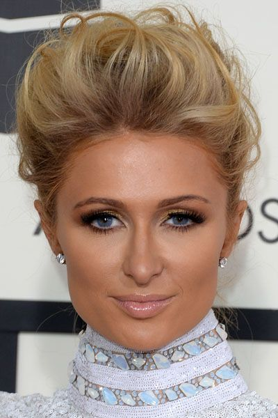 5 Crazy Good Hairstyles from the Grammys- Paris Hilton's voluminous updo.