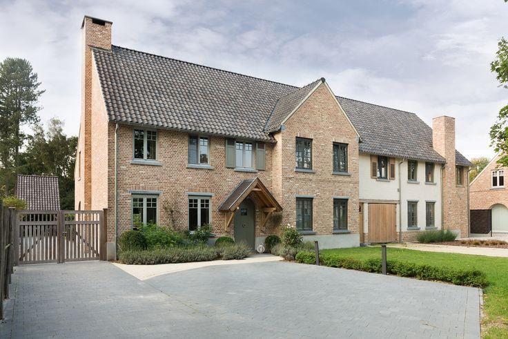 Huis - gebouwd met de oud haspengouw baksteen van steenfabriek Nelissen