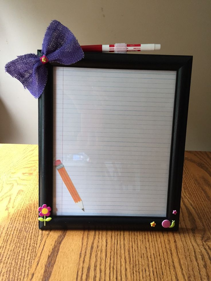 "Notes Picture Frame, 8"" x 10"" Desk Dry Erase Reminder Board, End of Year Teacher Gift, A Gift a teacher will never forget, Secretary Gift  - pinned by pin4etsy.com"