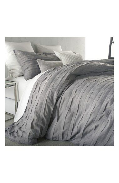 Free shipping and returns on DKNY 'Loft Stripe' Duvet Cover at Nordstrom.com. Soft, overlapping appliquéd strips lend elegant texture to a cool, contemporary duvet cover in a gauzy grey hue.