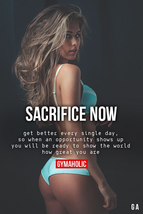 Sacrifice Now More motivation: http://www.gymaholic.co  #fit #fitness…