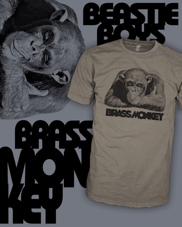 Brass Monkey T Shirt - Beastie Boys Drink Shirt - Brass Monkey Song Shirt - FREE SHIPPING by HipSoul on Etsy https://www.etsy.com/listing/208741484/brass-monkey-t-shirt-beastie-boys-drink