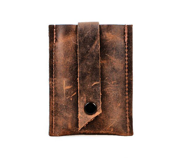 Perfect gift for him. Wallets – Pop-Up Leather Card Wallet - Business Card Holder – a unique product by Divina-Denuevo via en.DaWanda.com
