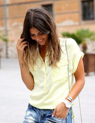 Blusa amarilla de Vila Clothes por Trendy Taste.