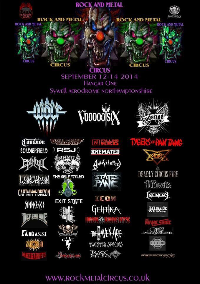 Rock and Metal Circus line up