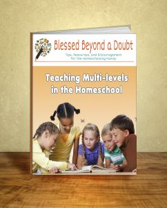 Grab the FREE eBook:  Teaching Multi-levels in the Homeschool!