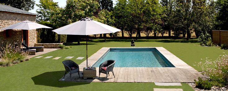 aménagement de la piscine avec terrasse bois | Piscine | Pinterest ...