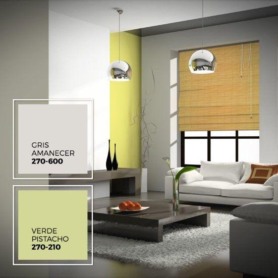 El gris y el verde son ideales para crear un espacio sofisticado y con un toque de masculinidad.