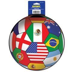 International Soccer Ball Cutout  from Windy City Novelties