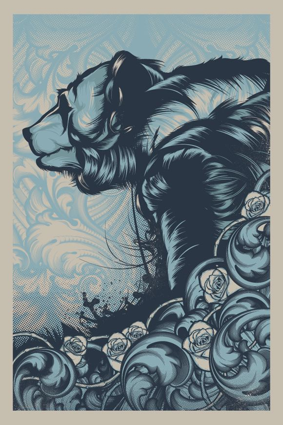 Bear revise and release print by Hydro74