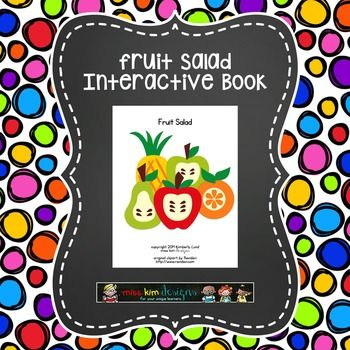 Designed for young children ages 3-5 with autism and/or intellectual delays, Fruit Salad is a nine page book (ten with cover) that comes in a printable .pdf file. This would be a fun book to read during a nutrition or food themed unit and then follow up by making fruit salad to share with friends.