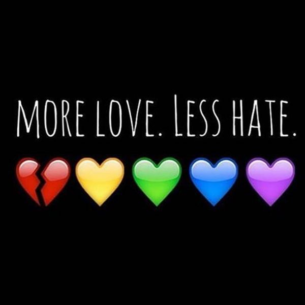 Via Chad Griffin of the Human Rights Campaign: Now more than ever we must stand together and say #LoveConquersHate.