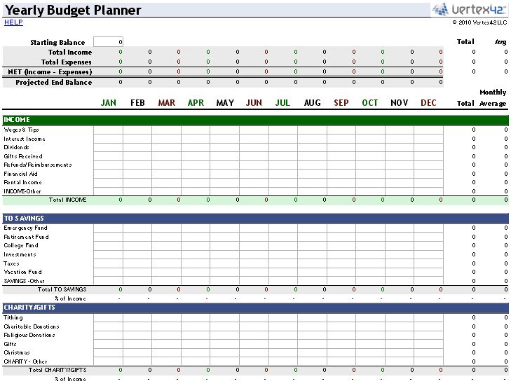 excel budgeting tools