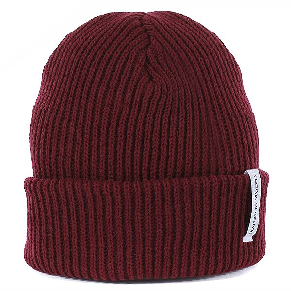 Raised By Wolves Alert Watch Cap - Maroon