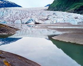 Mendenhall Glacier, Tongass National Forest, Alaska. Looks much different now.