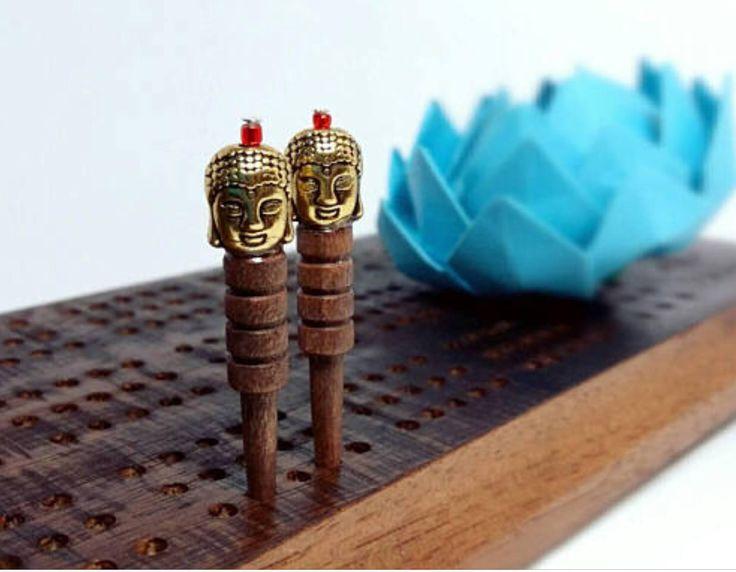 Cribbage pegs,crib pegs,Buddha,Cribbage,crib board,Cribbage board,pegs by BleuLotusDesign on Etsy
