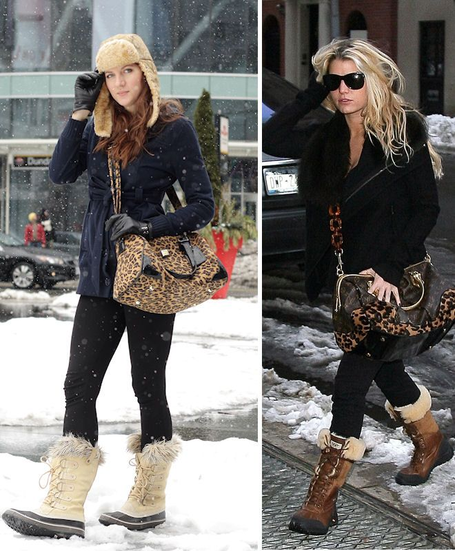 Jessica Simpson style soooo cute! Not a good copycat outfit though. -- ready for Sorel boots & lots of snow!