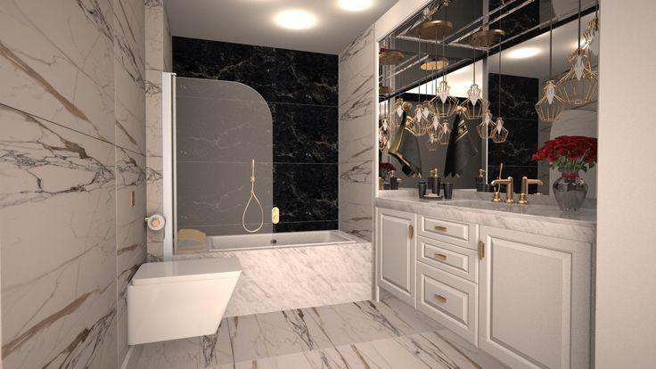 #banyo dekorasyonu #banyo tasarımı #şık #özel tasarım banyo tezgahı #banyo dolabı #ferah #beyaz banyo #duşakabin #akrilik banyo tezgahı #mermer görünümlü seramik